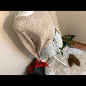 H&M off white summer sweater